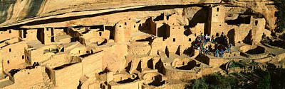 Tourists At Cliff Palace, Mesa Verde Print by Panoramic Images