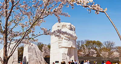 Tourists At Martin Luther King Jr Print by Panoramic Images