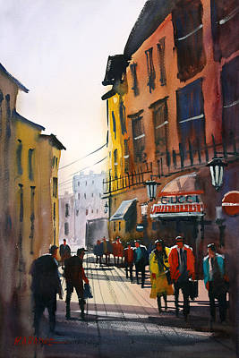 Impressionistic Painting - Tourists In Italy by Ryan Radke