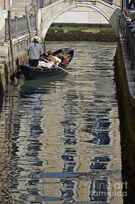 Photograph - Tourists On Gondola On Canal by Sami Sarkis