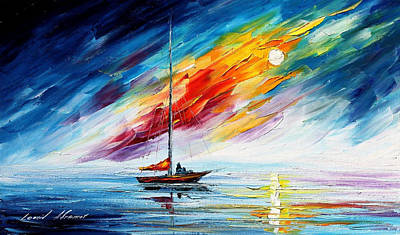Toward The Winds - Palette Knife Oil Painting On Canvas By Leonid Afremov Original by Leonid Afremov