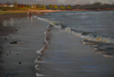Maine Painting - Towards Prout's Neck by Len Stomski