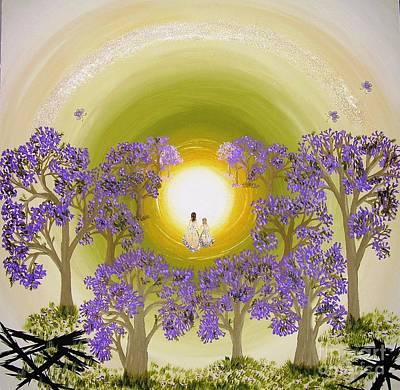 Jacaranda Painting - Towards The Light by Tessa Dutoit