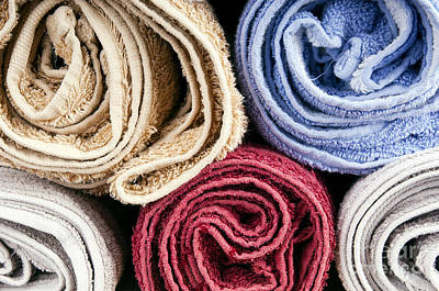 Cotton Photograph - Towels by Tim Hester