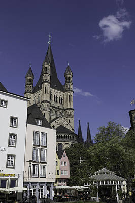Three Little Kittens Designs Photograph - Tower And Spire View Cologne by Teresa Mucha