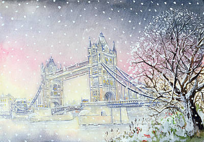 Tower Bridge Print by Tony Todd