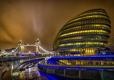 Dolphin Photograph - Tower Bridge And The Armadillo by Ian Hufton