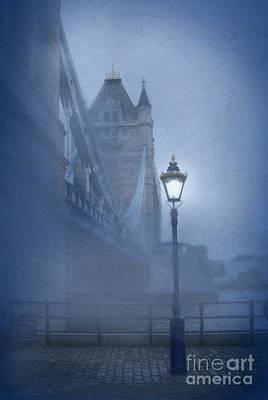 Tower Bridge In The Fog Print by Jill Battaglia