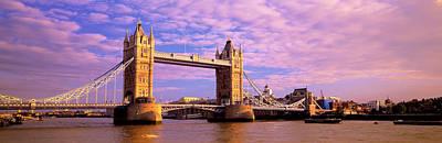 Gothic Bridge Photograph - Tower Bridge London England by Panoramic Images