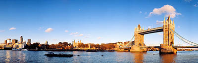 Gothic Bridge Photograph - Tower Bridge, London, England, United by Panoramic Images