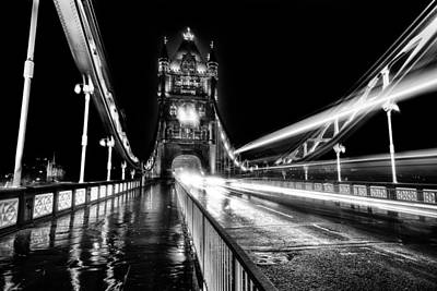 Tower Of London Photograph - Tower Bridge London In Mono by Ian Hufton