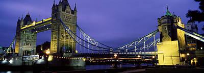 Gothic Bridge Photograph - Tower Bridge, London, United Kingdom by Panoramic Images