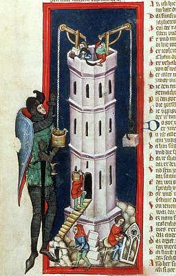 Tower Of Babel, 1375 Print by Granger