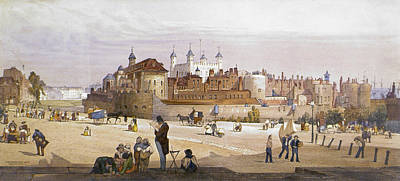 Tower Of London Painting - Tower Of London, 1842 by Granger