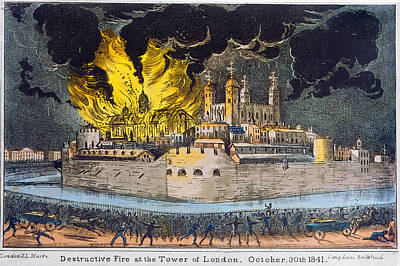 Tower Of London Painting - Tower Of London Fire by Granger