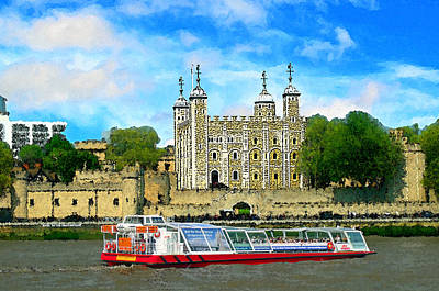 Tower Of London Mixed Media - Tower Of London by Peter Allen