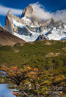 Snowed Trees Photograph - Towering Fitz Roy by Inge Johnsson