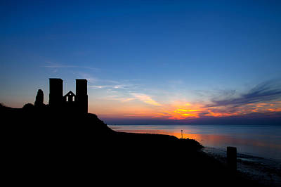 Reculver Photograph - Towers And Sunset by Nigel Jones