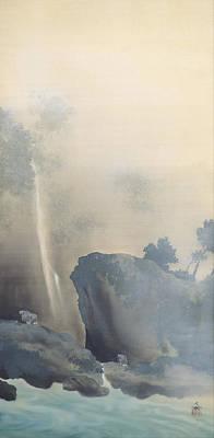 Taikan Painting - Towing A Boat by Yokoyama Taikan