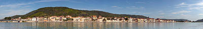 Rhone Alpes Photograph - Town At The Waterfront, Rhone River by Panoramic Images