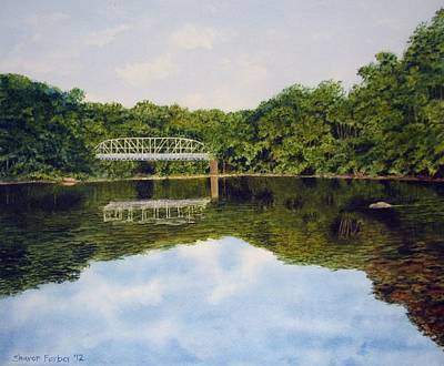 Lansdcape Painting - Town Bridge by Sharon Farber