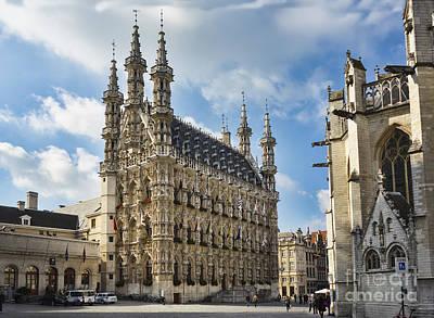 Town Hall Leuven Belgium Print by Frank Bach