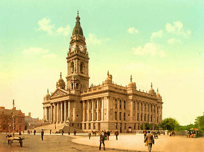 Town Hall Portsmouth - England Print by Don Kuing