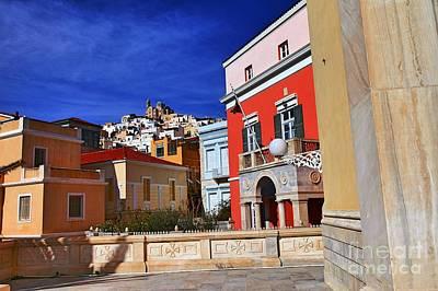 Town Of Hermes Original by Eleni Mac Synodinos