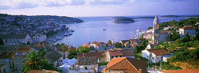 Rooftop Photograph - Town On The Waterfront, Hvar Island by Panoramic Images