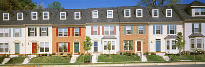 Townhouses Photograph - Townhouse, Owings Mills, Maryland, Usa by Panoramic Images