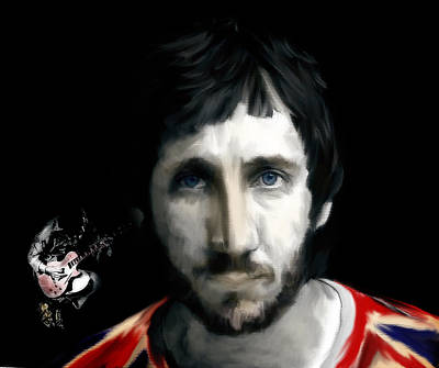Rock And Roll Art Drawing - Townshend Pete Townshend by Iconic Images Art Gallery David Pucciarelli