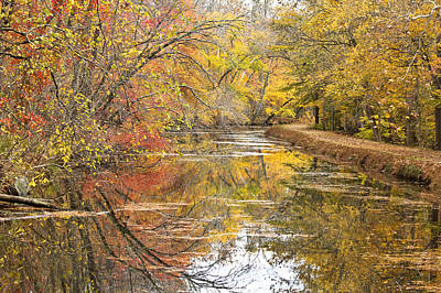 Towpath In Autumn Print by Francis Sullivan