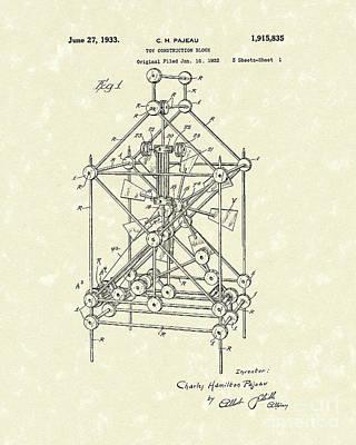 Toy Blocks 1933 Patent Art Print by Prior Art Design
