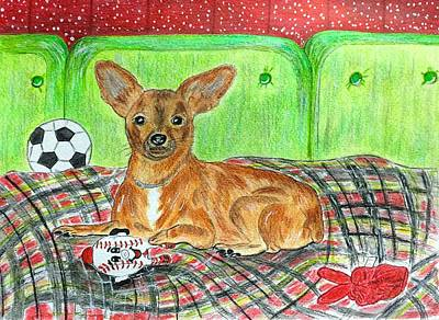 Toy Rat Terrier Print by Kathy Marrs Chandler