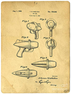 Toy Ray Gun Patent Print by Edward Fielding