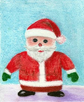 White Painting - Toy Santa by Anastasiya Malakhova