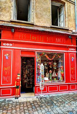 Toy Shop In Old Town Lyon Print by Mel Steinhauer