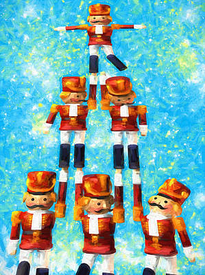 Toy Soldiers Painting - Toy Soldiers Make A Tree by Bob Orsillo