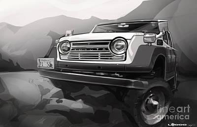 Digital-artwork Painting - Toyota Fj55 Land Cruiser by Uli Gonzalez