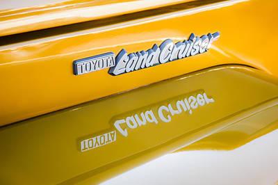 Cruiser Photograph - Toyota Land Cruiser Emblem  by Jill Reger