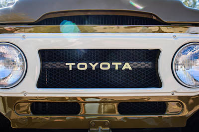 Toyota Land Cruiser Grille Emblem  Print by Jill Reger
