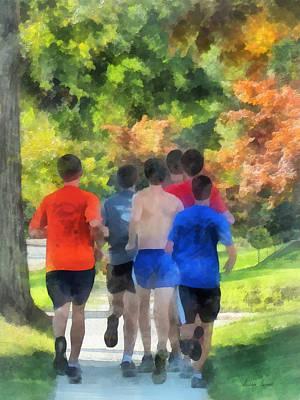 Jogging Photograph - Track Practice by Susan Savad