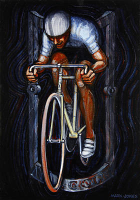 Track Racer Malcolm Cycles 1 Print by Mark Howard Jones