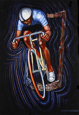 Track Racer Malcolm Cycles Print by Mark Howard Jones