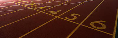 Track, Starting Line Print by Panoramic Images