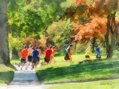 Track Team Print by Susan Savad