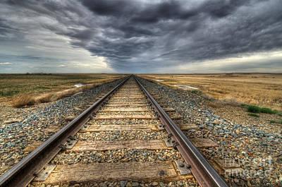 Train Tracks Photograph - Tracks Across The Land by Bob Christopher