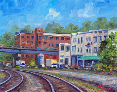 Asheville Artist Painting - Tracks By The Wedge Brewery by Jeff Pittman