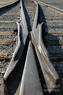 Industrial Photograph - Tracks by Dan Holm