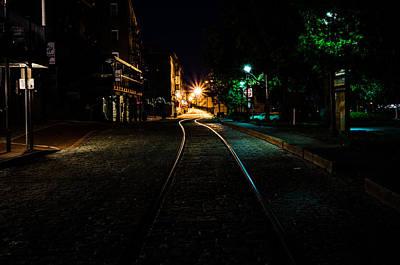 Riverwalk Photograph - Tracks On The Riverwalk In Savannah  by Anthony Doudt